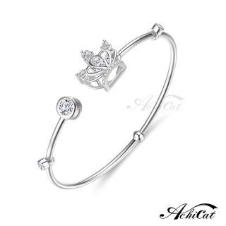 【AchiCat】925純銀 跳舞的手環 公主物語 皇冠 跳舞石 BS7013   AchiCat
