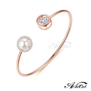 【AchiCat】925純銀 跳舞的手環 優雅圓舞曲 天然珍珠 跳舞石 BS7015   AchiCat