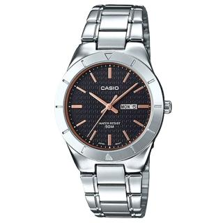 【CASIO 卡西歐】氣質指針女錶 不鏽鋼錶帶 防水 星日期顯示(LTP-1410D-1A2)  CASIO 卡西歐
