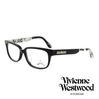 【Vivienne Westwood】英國薇薇安魏斯伍德插畫風格光學眼鏡(黑 AN298M01)   Vivienne Westwood
