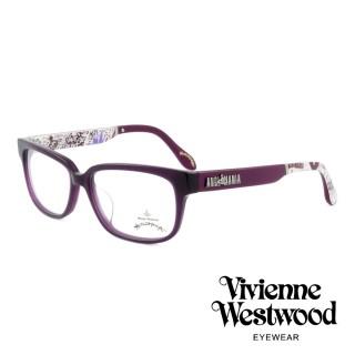 【Vivienne Westwood】英國薇薇安魏斯伍德插畫風格光學眼鏡(紫 AN298M02)  Vivienne Westwood