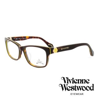 【Vivienne Westwood】英國薇薇安魏斯伍德率真玳瑁設計系列光學眼鏡(棕/黃 AN299M02)   Vivienne Westwood