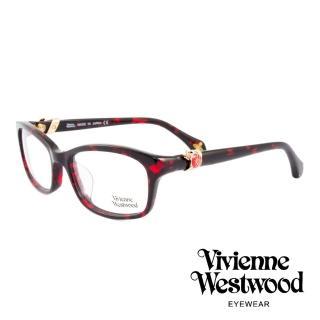 【Vivienne Westwood】英國薇薇安魏斯伍德龐克立體土星環光學眼鏡(琥珀紅/金 VW324M03)  Vivienne Westwood