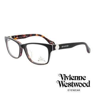 【Vivienne Westwood】英國薇薇安魏斯伍德率真玳瑁設計系列光學眼鏡(黑紫 AN299M01)   Vivienne Westwood
