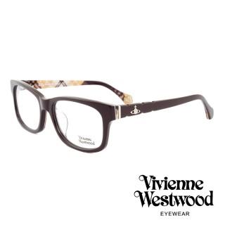 【Vivienne Westwood】英國薇薇安魏斯伍德經典英格蘭格紋設計款光學眼鏡(深棕 VW323M04)   Vivienne Westwood
