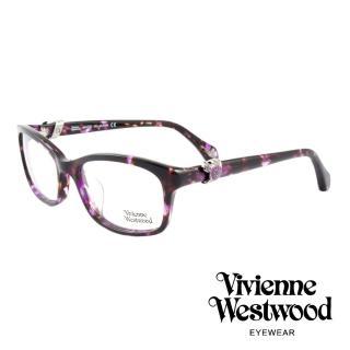 【Vivienne Westwood】英國薇薇安魏斯伍德龐克立體土星環光學眼鏡(琥珀紫/銀 VW324M04)   Vivienne Westwood