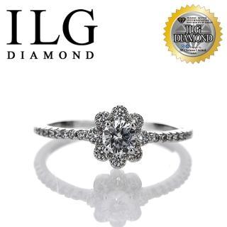 【ILG】八心八箭戒指 - 花之醉系列 RI155 主鑽約25分 經典設計(白K金色)  ILG