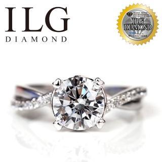 【ILG】八心八箭戒指 - best love RI077 主鑽約1.25克拉 經典永恆款(白K金色)  ILG