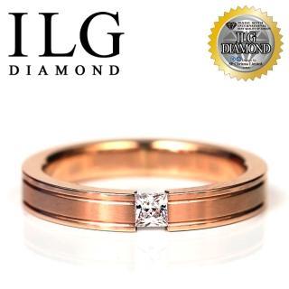 【ILG】八心八箭戒指 - Secret lover RI082 主鑽約10分 中性極簡設計(18K金色)   ILG
