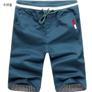 【NBL】L03372韓版鬆緊帶休閒短褲(韓版春夏季男裝青年休閒短褲)   NBL