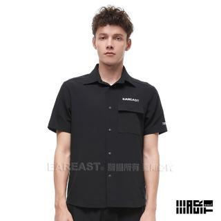 【EAR EAST】男款 LOGO短袖襯衫(黑)  EAR EAST