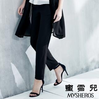 【mysheros 蜜雪兒】柔軟垂墜直筒長褲(黑)   mysheros 蜜雪兒