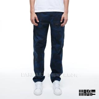 【EAR EAST】男款 口袋迷彩工作長褲(藍)   EAR EAST