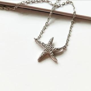 【DoriAN】閃亮海星鑲鑽鎖骨項鍊(925純銀 鑲CZ鑽 附精美禮盒)  DoriAN