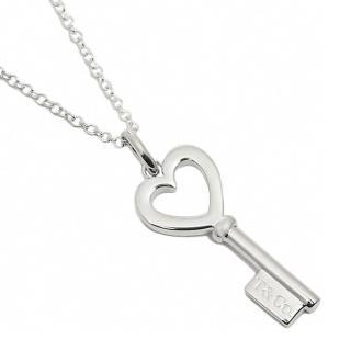 【Tiffany&Co. 蒂芙尼】Tiffany Keys愛心鑰匙純銀項鍊  Tiffany&Co. 蒂芙尼