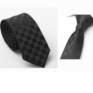 【拉福】格紋6cm窄版領帶拉鍊領帶(兒童黑色)   拉福