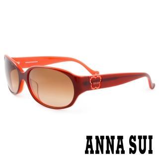 【ANNA SUI 安娜蘇】香氛花園簡約薔薇造型太陽眼鏡(棕橘 -AS818M116)   ANNA SUI 安娜蘇