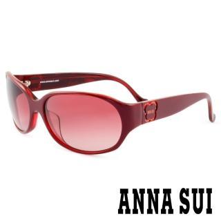 【ANNA SUI 安娜蘇】香氛花園簡約薔薇造型太陽眼鏡(紅 -AS818M239)   ANNA SUI 安娜蘇