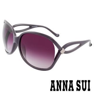 【ANNA SUI 安娜蘇】香氛花園優雅淑女雙扣圈環設計太陽眼鏡(紫 -AS800M765)   ANNA SUI 安娜蘇