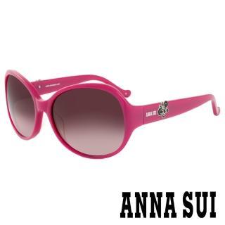 【ANNA SUI 安娜蘇】香氛花園蝴蝶飛舞綴飾造型太陽眼鏡(紫紅 -AS820M248)  ANNA SUI 安娜蘇