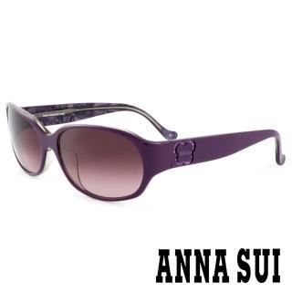 【ANNA SUI 安娜蘇】香氛花園簡約薔薇造型太陽眼鏡(紫 -AS818M737)   ANNA SUI 安娜蘇