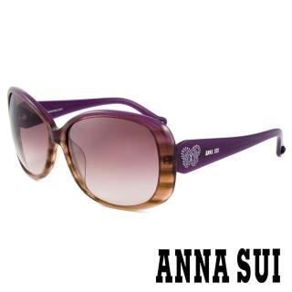 【ANNA SUI 安娜蘇】香氛花園雙色透亮蝴蝶吊飾太陽眼鏡(紫 -AS833M700)  ANNA SUI 安娜蘇