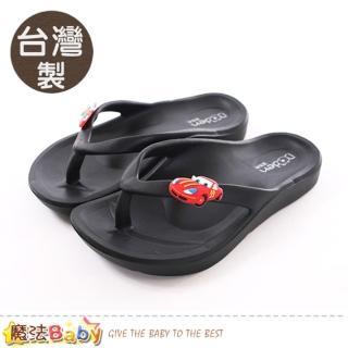【魔法Baby】17-22cm兒童拖鞋 台灣製減壓足弓夾腳拖鞋(sk0321)   魔法Baby