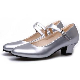 【Sp house】時尚優雅淑女鏡面跟鞋舞蹈鞋(氣質銀全尺碼)  Sp house
