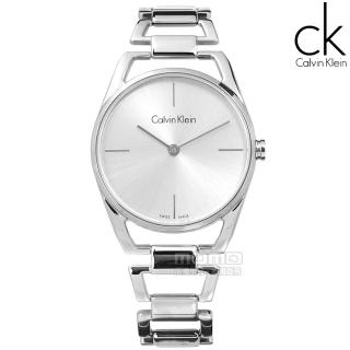 【Calvin Klein】Dainty 瑞士機芯 鏤空設計 不鏽鋼手錶 銀色 30mm(K7L23146)  Calvin Klein