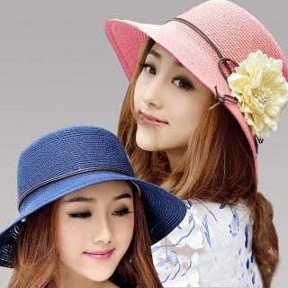 【Seoul Show首爾秀】立體花朵草編防曬帽海灘遮陽帽(5色)   Seoul Show首爾秀