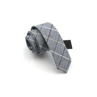 【拉福】棉質領帶窄版拉鍊領帶6cm(兒童灰色系)  拉福