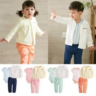 【Baby童衣】純棉居家服寶寶套裝3件組 80043(共4色)   Baby童衣