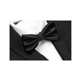 【拉福】中打折領結新郎結婚領結糾糾(黑色)  拉福