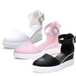 【Sp house】完美淑女厚底時尚休閒鞋(白色黑色粉色三色全尺碼)   Sp house