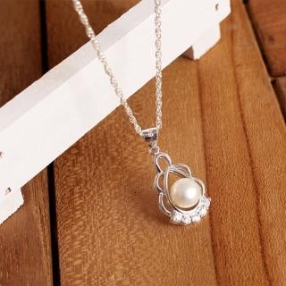 【微笑安安】水滴形珍珠925純銀細緻項鍊  微笑安安