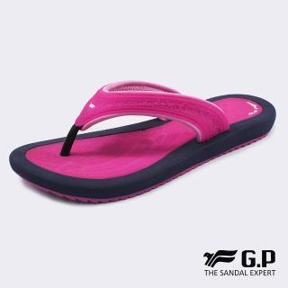 【G.P】輕量甜美果凍夾腳拖鞋G8521W-黑桃色(SIZE:36-40 共三色)  G.P
