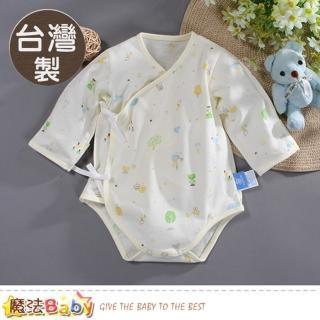 【魔法Baby】包屁衣 台灣製四季穿薄款純棉護手連身衣(b0019)  魔法Baby
