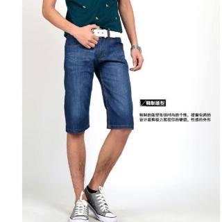 【NBL】L03384韓版薄款刷洗牛仔短褲(韓版男裝棉質休閒牛仔短褲)   NBL