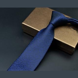 【拉福】領帶7cm中寬版領帶手打領帶(深星光)  拉福