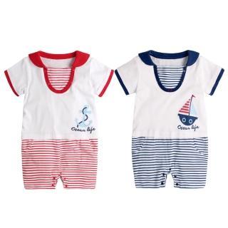 【Baby童衣】U領海軍風連身衣 80076(共2色)   Baby童衣