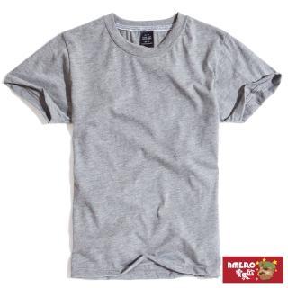 【AMERO】男裝素面圓領短袖t恤(台灣製造 防變形織帶 純棉 情侶裝)  AMERO