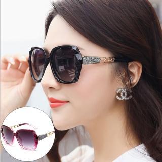 【Seoul Show首爾秀】鑽石紋大框太陽眼鏡UV400墨鏡 9827(防曬遮陽)   Seoul Show首爾秀