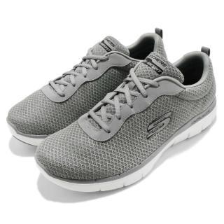 【SKECHERS】訓練鞋 Flex Advantage 2.0 男鞋 跑步 透氣 健身 輕量 記憶鞋墊 灰 白(52125GRY)   SKECHERS