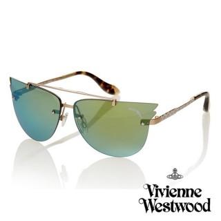【Vivienne Westwood】英國薇薇安魏斯伍德英倫龐克飛行翅膀太陽眼鏡(綠漸層 AN828M06)  Vivienne Westwood
