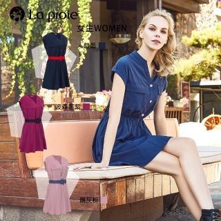 【La proie 萊博瑞】舒適透氣機能材質連身裙(時尚舒適機能收腰連身裙-三色)   La proie 萊博瑞