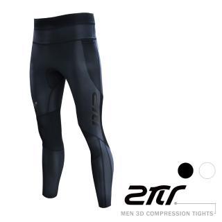 【2PIR】男款3D立體支撐壓力褲(闇夜黑)  2PIR