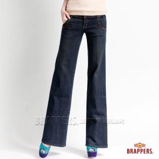 【BRAPPERS】女款 新美腳二代系列-彈性寬版褲(藍)   BRAPPERS