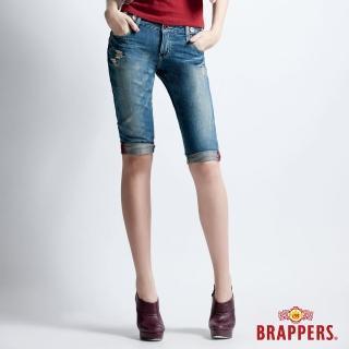 【BRAPPERS】女款 Boy Friend Jeans系列-五分反摺褲(淺藍)   BRAPPERS