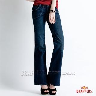 【BRAPPERS】女款 Lady Vintage 系列-大喇叭褲(深藍)  BRAPPERS