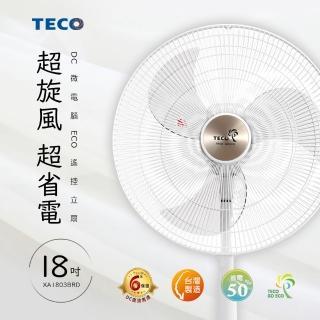 【TECO 東元】18吋DC微電腦ECO遙控立扇(XA1803BRD)   TECO 東元